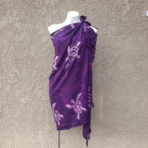 Purple BATIK Turtle Wrap